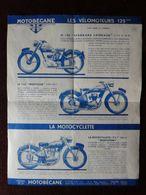 1951 Publicité MOTOBECANE Mobylette Bicyclette Vélomoteurs 125 Standard Mobyclub 175 Mobysport - Moto