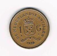 &  NEDERLANDSE ANTILLEN   1  GULDEN  1989  BEATRIX - Antillen (Niederländische)