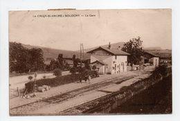 - CPA LA CROIX-BLANCHE - SOLOGNY (71) - La Gare - Edition BOURGEOIS - - France