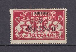 Danzig - 1923 - Michel Nr. 192 - Ungebr. M. Falz - 32 Euro - Danzig