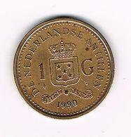 &  NEDERLANDSE ANTILLEN   1  GULDEN  1990  BEATRIX - Antillen (Niederländische)