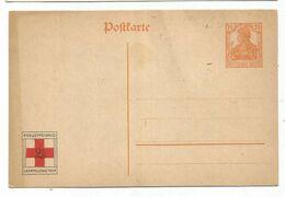 GERMANY ENTIER POSTKARTE 7 1.2 GERMANIA REPIQUAGE RED CROSS KREUZ SAMMLUNG 1914 - Ganzsachen