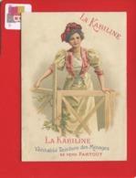 Jolie Chromo Publicitaire Pour LA KABILINE Calendrier 1905 Jeune Femme La Lithographie Parisienne - Petit Format : 1901-20