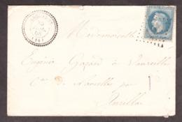 LSC - 30 Juillet 1868 - T22 Anglards (Cantal) Pour Vaureilles (Naucelles) Par Aurillac - GC 101 Sur N° 29A - 1849-1876: Klassik
