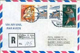 CANADA Registered Cover Lieu Venue 4 Metro Station Viau Olympic Park With Olympic Cancel Judo - Summer 1976: Montreal