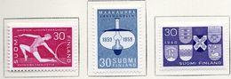 1959/60 - FINLANDIA - Mi. Nr. 513/515 - LH -  (UP.70.50) - Nuovi
