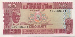Guinée : Série De 4 Billets : 50F (1985 UNC) + 100F (1998 TBE) + 500F (2006 UNC) + 1000F (2006 TBE) - Guinea