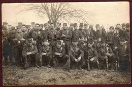 """Carte Photo Ancienne Roanne """" Loire """"  Groupe  Militaire  Militaires  Guerre 1914 - 1918 Régiment - Guerre 1914-18"""