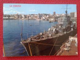 SPAIN POSTAL POST CARD LA A CORUÑA EL PUERTO LE PORT THE HARBOUR BARCO BUQUE SHIP BOAT EDICIONES PARÍS....DE GUERRA ? - La Coruña