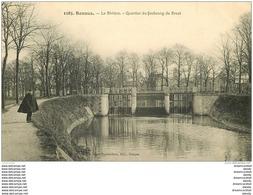 35 RENNES. La Rivière Quartier Du Faubourg De Brest. Carte écrite - Rennes