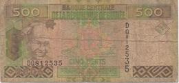 Guinée : 500 Francs 2006 (très Mauvais état) + 5000 Francs 2006 (mauvais état) - Guinea