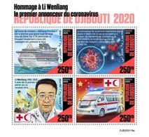 DJIBUTI - 2020 - Tribute To Li Wenliang, First Annoucer Of Coronavirus - Perf 4v Sheet - M N H - Djibouti (1977-...)