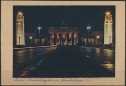 Ansichtskarte Berlin Brandenburger Hindenburgplatz Während D. NS-Zeit Propaganda - Deutschland