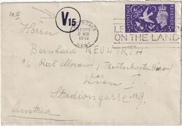 GRANDE BRETAGNE 1948  LETTRE   CENSUREE DE SEVENOAKS POUR WIEN - Cartas