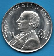 MALTA 1 POUND 1972 Argent 987‰ Silver MANWEL DIMECH  KM# 13 - Malta
