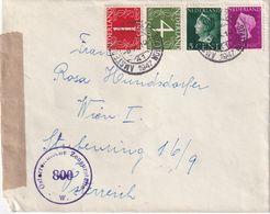 PAYS BAS 1947  LETTRE  CENSUREE DE AMSTERDAM  POUR WIEN - Lettres & Documents
