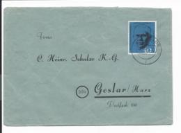 Bund 344 EF - 40 Pf Marshall Auf Geschäftsbrief Von Oelde Nach Goslar Verwendet - Brieven