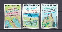 Europa-CEPT- Mitläufer - San Marino - 1990 - Michel Nr. 1435/37 - Postfrisch - Europa-CEPT