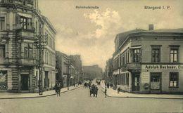 PR. STARGARD, Bahnhofstrasse, Gelaufen Ca. 1910 (Marke Abgefallen) - Pommern