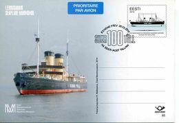 Entier Postal De 2014 D'ESTONIE Sur CP Illustrée - Barche