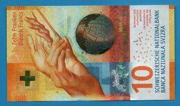 SWITZERLAND SUISSE 10 Franken / Francs / Franchi 2016 # 16D10934984 P# 75a - Svizzera