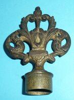 Rare Ancien éteignoir à Bougie En Bronze Mouchette Bouchon De Chandelier - Strumenti