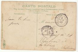 """Loire Inférieure Cad """"Imprimés PP- Chantenay Sur Loire 1909""""  En Arrivée (à Côté Du Cad Normal) /CP 5c Semeuse - 1877-1920: Semi-moderne Periode"""