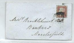 Cover 1 Red Imperf Duplex Cancel Marinally Challened Bottom. 1850 - Briefe U. Dokumente