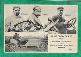 Grand Prix De L'ACF 1907 Circuit De La Seine-Inférieure Voiture Automobile Brasier 2scans Barillier Baras Bablot - Frankrijk
