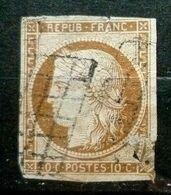 CERES N°1a 10c Bistre-Brun - 1849-1850 Cérès