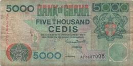 Ghana : 5000 Cedis 1998 (très Mauvais état) - Ghana
