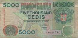 Ghana : 5000 Cedis 2003 (mauvais état) - Ghana