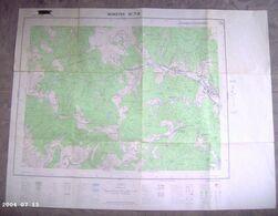 Carte Munster 1/25000 Institut Géographique National  Relevés 1885 Modifiés 1957 - Carte Topografiche