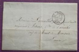 LETTRE 1860 - PARIS Pour  YCHOUX - Cad. T22 - CAISSE DES ECOLES ET DES FAMILLES - Marcofilie (Brieven)