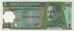 Guatemala : 1 Quetzal 2012 UNC PLASTIQUE - Guatemala