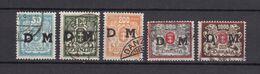 Danzig - Dienstmarken - 1923 - Michel Nr. 36/40 - Gestempelt - Danzig