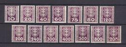 Danzig - Portomarken - 1921 - Michel Nr. 1/14 - Ungebr. M. Falz - Danzig