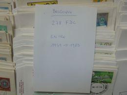 BELGIQUE 278 FDC Entre 1959 Et 1983 TRES BEAU LOT (1 KILOS 300 AVEC EMBALLAGE) - FDC