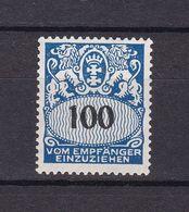 Danzig - Portomarken - 1938 - Michel Nr. 47 - Postfrisch - 50 Euro - Danzig