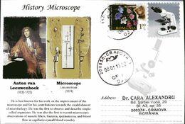 Envelope Circulee, 2013, Medecine, History Microscope, Anton Van Leeuwenhoek - Otros