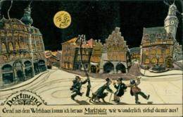 AK Dortmund Grad Aus Dem Wirtshaus Komm Ich Heraus, Marktplatz Wie Wunderlich Siehst Du Mir Aus (40340) - Dortmund