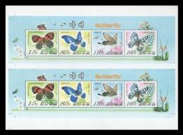 North Korea 2007 Mih. 5189/92 Fauna. Butterflies (M/S Of 2 Booklet Sheets) MNH ** - Corea Del Nord