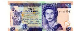 BELIZE 2 DOLLARS PICK 66c UNCIRCULATED - Belize