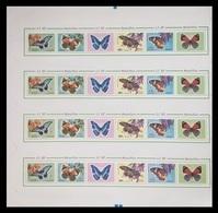 North Korea 2012 Mih. 5851/54 Fauna. Butterflies (M/S Of 4 Booklet Sheets) MNH ** - Corea Del Nord