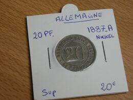 PIECE ALLEMAGNE   20 PFENNIG1887.A. NICKEL.  SUP. - [ 2] 1871-1918: Deutsches Kaiserreich