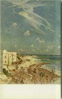 SOMALIA ITALIANA - COLONIE - MOGADISCIO - LA SPIAGGIA - SIGNED L. AJMONE - 1920s ( BG8661 ) - Somalia