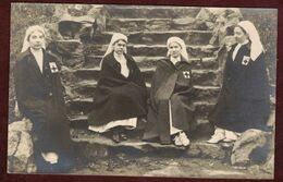 Carte Photo Ancienne Lazaristes à Lyon Femme Lazariste  - Ordre Religieux - Congrégation  - Rhône - - Croce Rossa