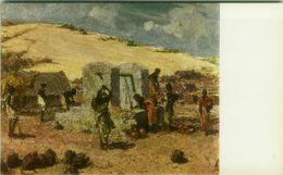 SOMALIA ITALIANA - COLONIE - POZZO PRESSO LA DUNA - SIGNED L. AJMONE - 1920s ( BG8662 ) - Somalia