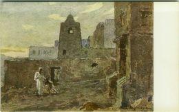 SOMALIA ITALIANA - COLONIE - MARABUTTI SULLE COSTE PRESSO SCINGANI - SIGNED L. AJMONE - 1920s ( BG8663 ) - Somalia