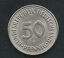 MONNAIE ALLEMAGNE 50 PFENNIG 1972 F  -   Pieb 24103 - [ 7] 1949-… : RFA - Rep. Fed. Alemana